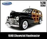 【並行輸入品】1:24箱入りダイキャストミニカー【1948 Chevrolet Fleetmaster ブラック】1948年シボレーフリートマスター アメ車 【WELLY】