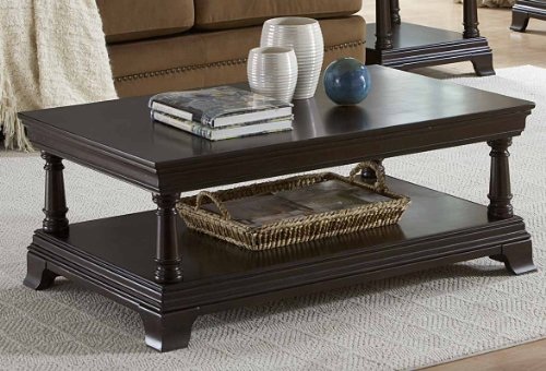 Inglewood Cocktail Table By Home Elegance In Espresso front-845935