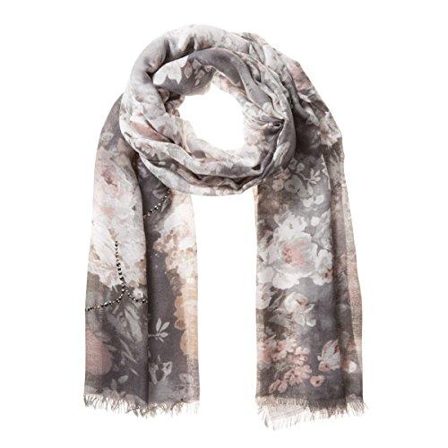 Love Strass Flowers Foulard Codello sciarpa invernale sciarpa da donna Taglia unica - grigio