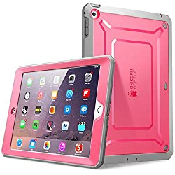 SUPCASE Beetle Defense Series for Apple iPad Mini with Retina Display (2nd Gen) Full-body Hybrid Protective Case with Built-in Screen Protector (Pink/Gray) - Dual Layer Design/Impact Resistant Bumper (Also Compatible with iPad Mini 1st Generation)