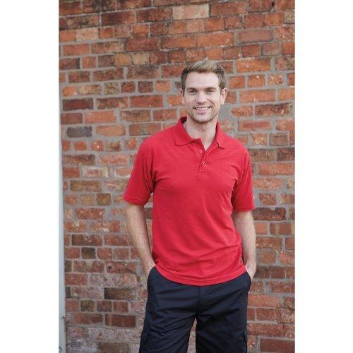 UCC 50/50 Mens Plain Piqué Short Sleeve Polo Shirt (M) (Black)