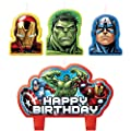 Marvel Avengers Birthday Cake Candle Set Party Supplies