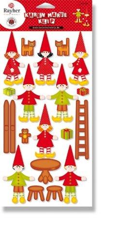 """Bastel-Set Adventskalender """"Weihnachtsdorf"""" von Karen Marie Klip"""