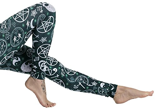 American Horror Story Pentagram Leggings stampa allover M