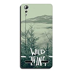 Mozine Wild Thing printed mobile back cover for Lenovo a6000