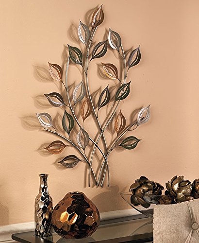 Gold & Silver Metal Leaves Wall Sculptures