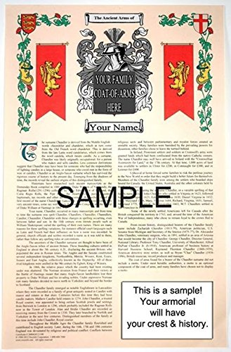 Joyce - Surname - Armorial Name History & Coat of Arms Scroll - 11 x 17 Inches (A3) - Family Crest - Genealogy - Heraldry - Heraldic