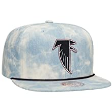 Atlanta Falcon's NFL Lite Acid Wash Denim Snapback Cap by Mitchell & Ness