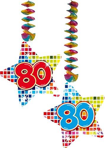 2x decken dekoration 80 geburtstag f r for Dekoration 80 geburtstag