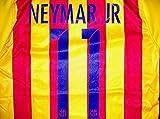 ≪メール便≫子供用 K134 バルセロナAWAY NEYMAR JR*11 ネイマール 2016 黄赤 ゲームシャツ パンツ付