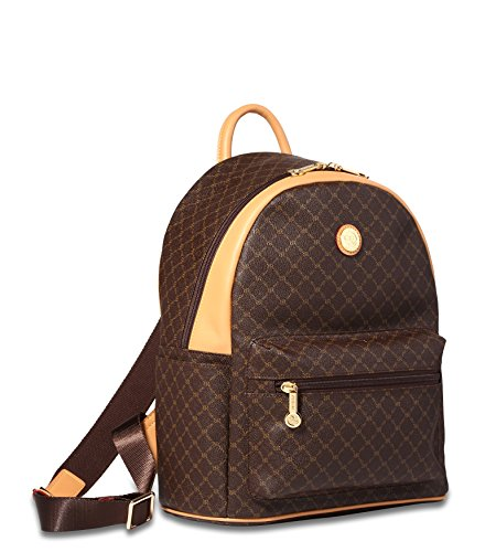 rioni-round-dome-travel-daypack-backpack-unisex-signature-brown