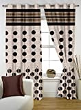 Story@Home 1 PC Jacquard Eyelet Window Curtain Rintop, 5 ft Brown