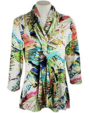 Boho Chic - Color Splash, , V-Neck, Gathered Tie Front, Top
