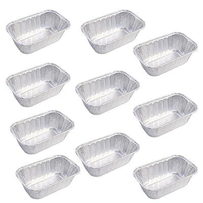 Set of 10 Mini Disposable Aluminum Foil Loaf Pans