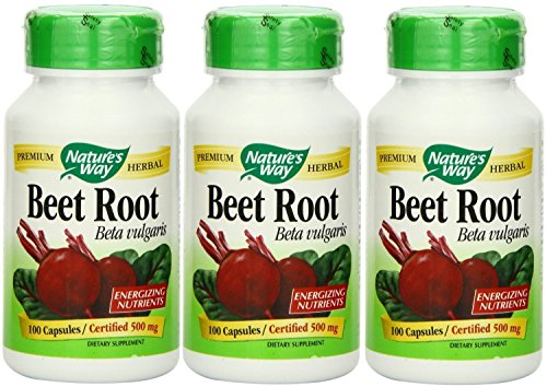 Nature's Way Beet Root Powder Capsules 500 Mg, 100-count (3 Pack)