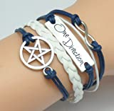 BlueTop(TM) Vintage Deathly Hallows Logo-Snitch Wings-Hedwig Pendant 3 in 1 Bracelet For Harry Potters Fans