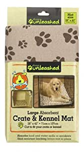 Dogs Unleashed Ritz Viscose Large Kennel and Crate Mat, Taupe