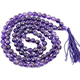 FairyBells Kart Energised Amethyst Diamond Cut Crystal Mala FBKAC91
