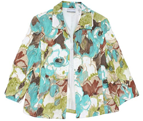 Ipanema Abstract Floral Crinkle Jacket in Multi By Alfred Dunner (16)