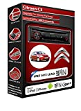 Citroen C3 car stereo CD MP3 player Kenwood KDC 3051r AUX in radio kit