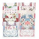 """USM Mix Lot Flroal Retro Style Cotton Handkerchiefs for Women- 16""""square"""