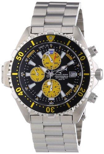 Chris Benz Men's Quartz Watch CB-C-BLACKYELLOW-MB with Metal Strap