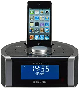 Roberts DREAMDOCK DAB/FM RDS Digital Stereo Clock Radio with Dock for iPod and iPhone