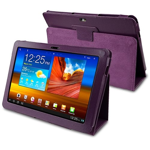 Leather Case for Samsung© Galaxy Tab 10.1 P7500, Purple
