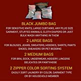 Lingerie Bag Set - 5 Wash Bags: Heavy Duty Mesh Laundry Sacks with 1 Jumbo & 2 Extra Large for Any Garment Size Washing. 2 Zipper Colors for Easy Bra & Delicates Sorting. Dryer Safe, Lifetime Warranty