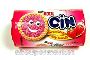 Eti Cin Strawberry Jelly Biscuit 351g (13 Pcs)