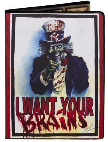 Uncle Sam Zombie Artwork - I Want Your Brains - Combo Portfolio Album (9 Pocket Trading Card Binder) - 1