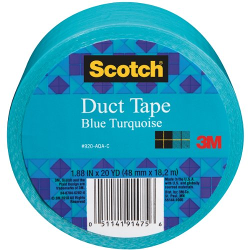 Scotch Duct Tape, Blue Turquoise, 1.88-Inch by 20-Yard