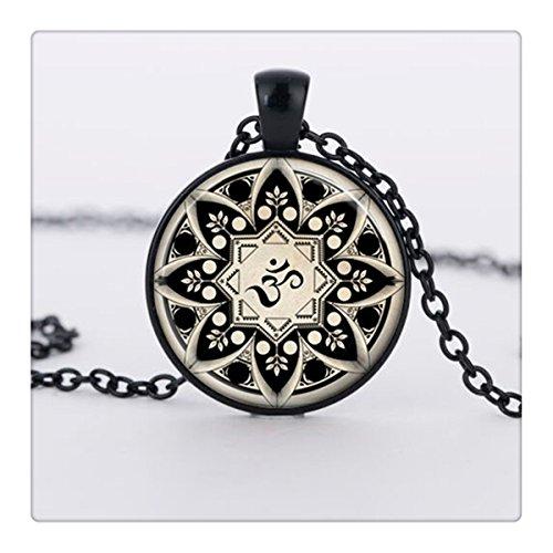 Om collana pendente om Yoga gioielli in vetro Art Immagine Collana Pendente in vetro cabochon