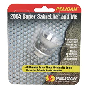 Pelican 2004 Xenon Replacement Lamp for 2000 Sabrelite and Nemo Flashlight