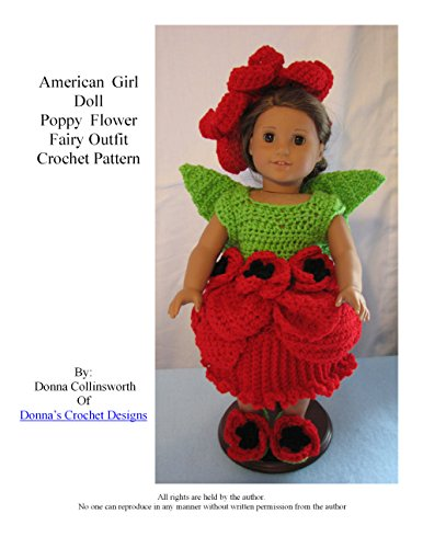 Poppy Flower Fairy Outfit for American Girl Dolls Crochet Pattern