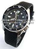 22mm Heavy Duty Silicon Rubber Divers Watch Strap on Stainless Steel Deployment Fits Seiko 007