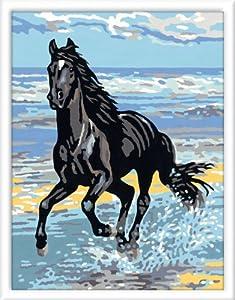 Ravensburger - 28119 - Loisir Créatif -  Coffret peinture Numéro d'Art - Cheval au Galop