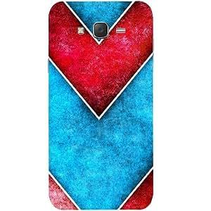 Casotec Line Obliquely Background Design Hard Back Case Cover for Samsung Galaxy J5
