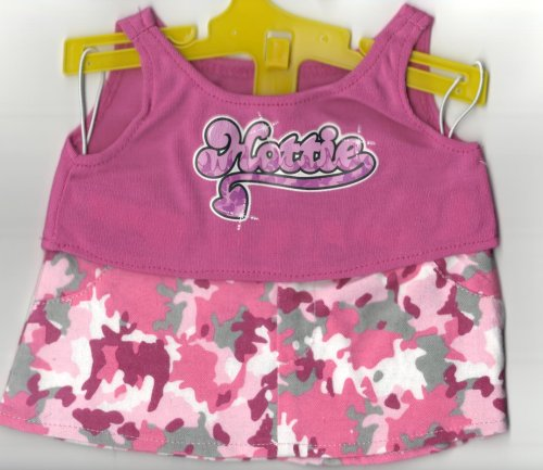 60080 Hottie Pink Tank and Camo Skirt Outfit for 14