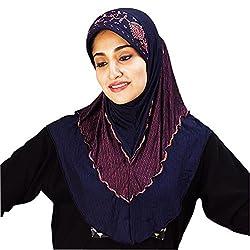 Hayfa Soft Poly Cotton Handwork hijab XL