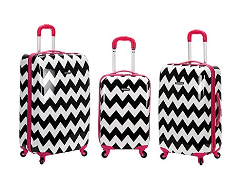 Rockland 3 Piece Upright Set, Pink Chevron