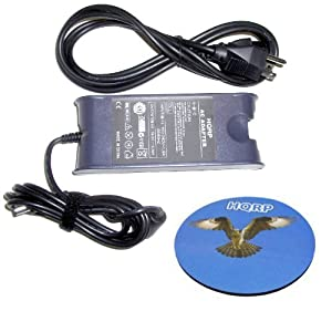 HQRP 65W Heavy-Duty AC Adapter for Dell Inspiron 8600 E1505 6000 6400 700M Laptop / Notebook Charger / Power Supply + Power Cable + HQRP Mousepad