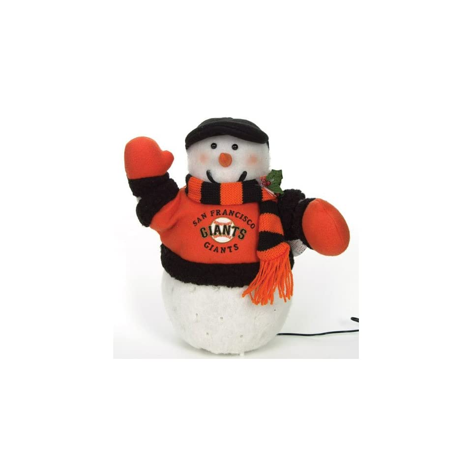 San Francisco Giants MLB Fiber Optic Light Up Snowman (16 inch)