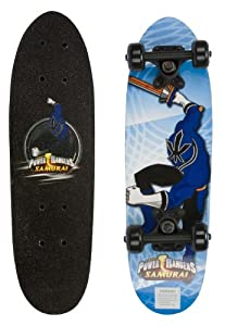 "Power Rangers 21"" Complete Skateboard Pattern: Blue Ranger"