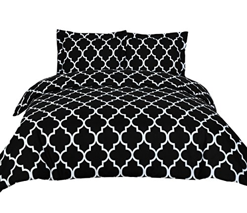 3-Piece-Duvet-Cover-Set-Queen-Black-Duvet-Cover-with-2-Pillow-Shams-Hotel-Quality-Brushed-Microfiber-Luxurious-Comfortable-Breathable-Soft-and-Extremely-Durable-by-Utopia-Bedding