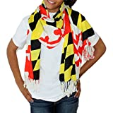 Route One Apparel Womens Maryland Flag Scarf One Size Red, Yellow, White, Black