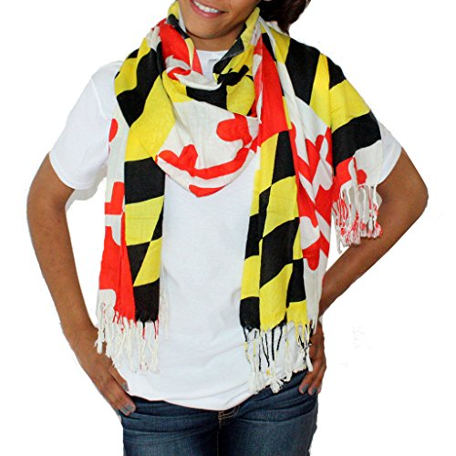 Route One Apparel Women's Maryland Flag Scarf
