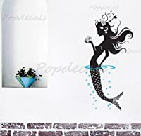 Popdecals - Mermaid - 47 in Tall - Nursery Wall Decals Tree Vinyl Wall Art Wall Decor Sticker Wall Vinyl Stickers Pop Baby Gift Idea by PopDecals