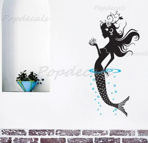 Feature wall words to enhance the Mermaid theme and punch up a space