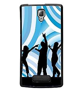 Music Fun Dance 2D Hard Polycarbonate Designer Back Case Cover for Lenovo A2010